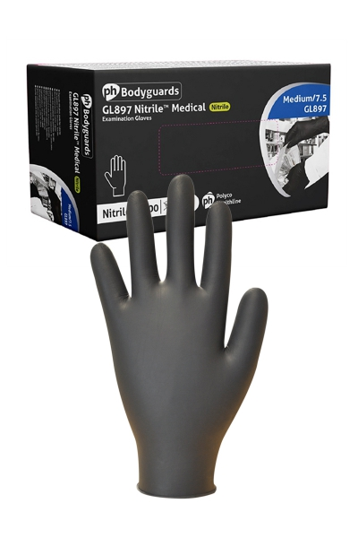 100 gants médicaux en Nitrile noir