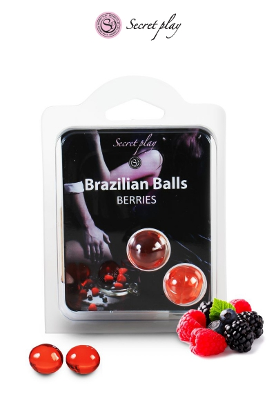 2 Brazilian Balls - baies rouges