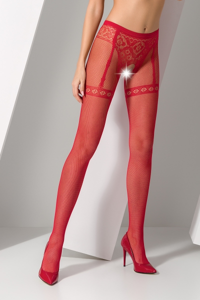 Collants ouverts S012 - Rouge