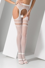 Collants ouverts S013 - Blanc