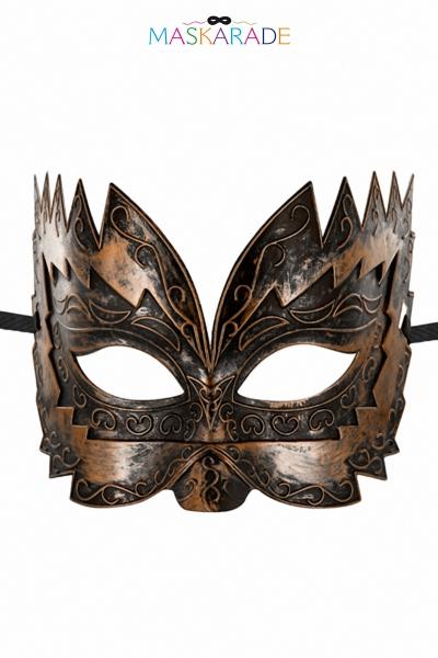 Masque semi-rigide cuivré Don Giovanni