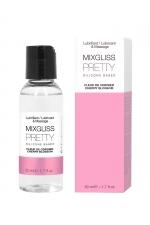 Mixgliss silicone - Fleur de cerisier - 50ml : Fluide 2 en 1 massage et lubrifiant riche en silicone, parfum fleur de cerisier.