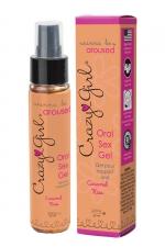 Crazy Girl Oral Sex Gel - Caramel Kiss : Gel intime pour rapport oral (fellation ou cunnilingus) parfum Caramel Kiss, pour le plus grand plaisir des deux partenaires.