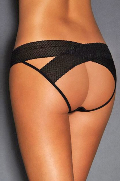 Culotte ouverte noire