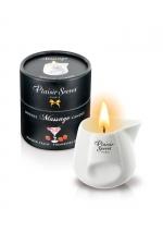 Bougie de massage - Daiquiri fraise : Bougie érotique se transformant en huile de massage sensuelle au goût du célèbre cocktail Daiquiri Fraise.