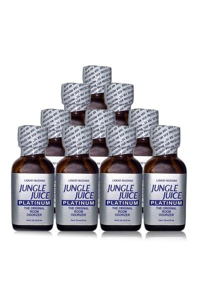 Pack 10 poppers Jungle Juice Platinum 24 ml