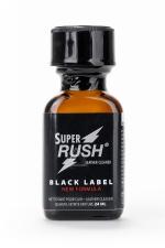 Poppers Super Rush Black Label 24 ml : Arôme liquide aphrodisiaque (en flacon de 24 ml,à base de Nitrite d'Amyle, pour aromatiser votre pièce.