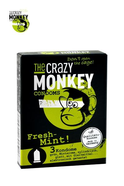 3 Préservatifs Crazy Monkey Menthe Fraiche