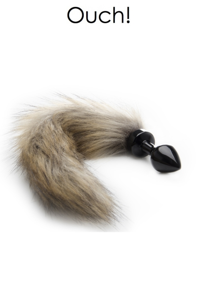 Plug anal avec queue en fourrure renard